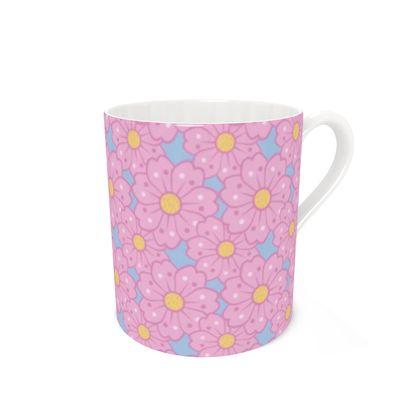 Cherry Blossoms Pattern Coffee Mugs