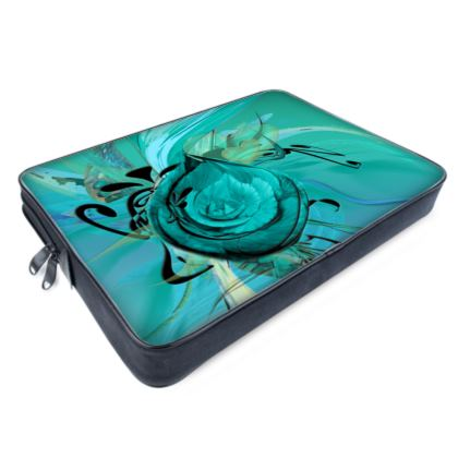 Laptop Bags - Datorväska - Turquoise on Turquoise