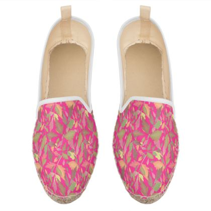 Loafer Espadrilles  Cathedral Leaves  Peony