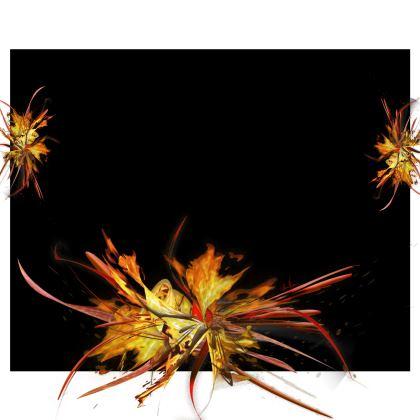 Kimono - Fire on black