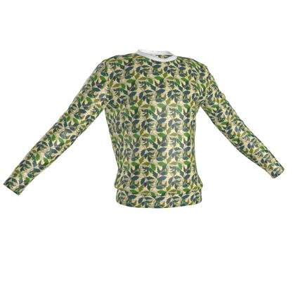 Sweatshirt  Cathedral Leaves  Buff and Sage