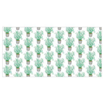 Pencil Plant, Quarantine Watercolor Silk