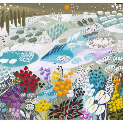 Set of Coasters in Natalie Rymer Snowy Hill design