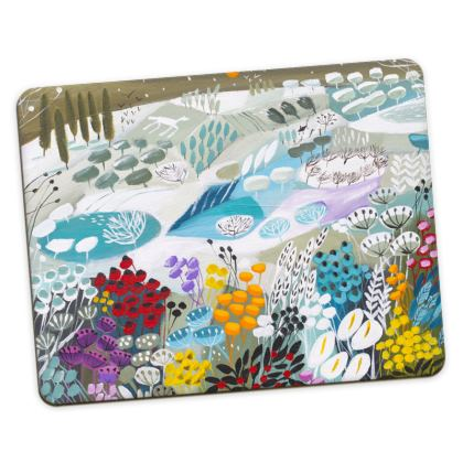 Set of Placemats in Natalie Rymer Snowy Hill design
