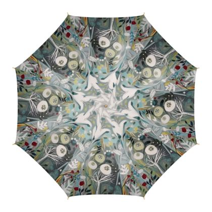 Umbrella in Natalie Rymer Winter Greys design
