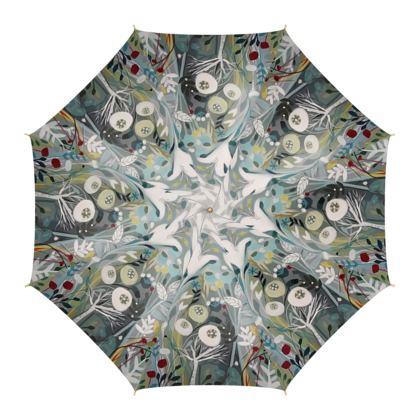 Umbrella in Natalie Rymer Winter Greys design