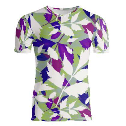 Slim Fit Mens T-Shirt  Diamond Leaves  Treetops