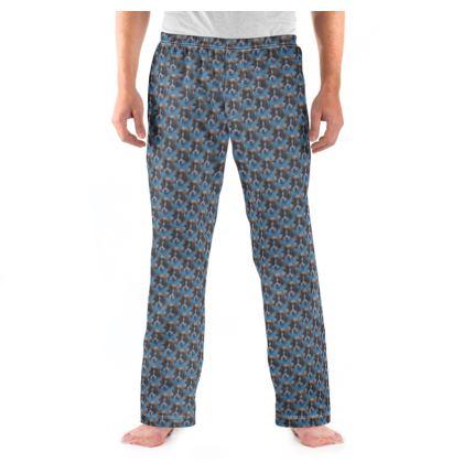 Mr Monkie Puzzle the Saint Bernard Fine Art Print Mens Pyjama Bottoms by Somerset (UK) Artist and Designer Amanda Boorman