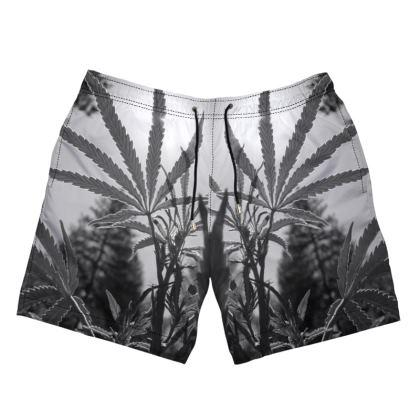 Shadows of  Cannabis Swim Shorts