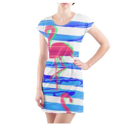Ladies Tunic T-shirt Emmeline Anne Summer Flamingoes