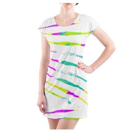 Ladies Tunic T-Shirt, Emmeline Anne Colour Burst