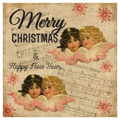 Vintage Christmas Cherub Coasters