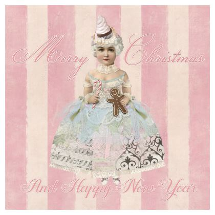Pink Christmas Fairy Coasters
