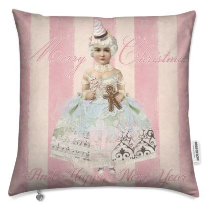 Pink Christmas Fairy Cushion