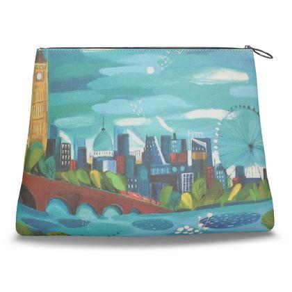 Clutch Bag in Natalie Rymer London Calling design