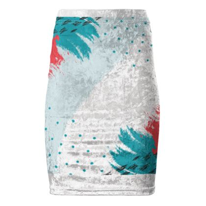 Pencil Skirt- Emmeline Anne Touch of Turquoise
