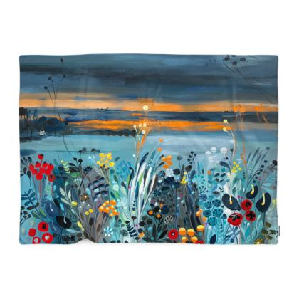 Blanket in Natalie Rymer Setting Sun design