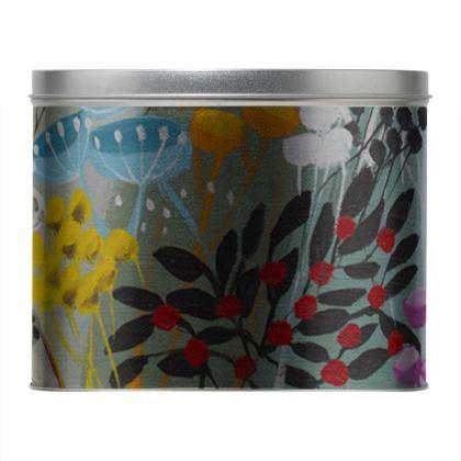 Round Tin in Natalie Rymer Snowy Hill design