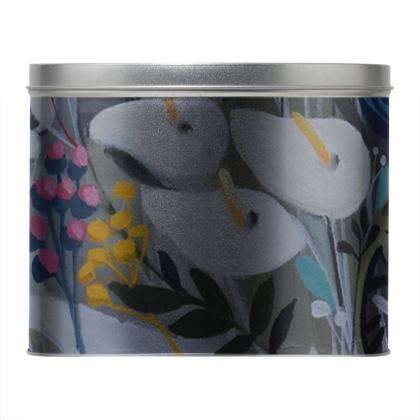 Round Tin in Natalie Rymer Winters Gift design