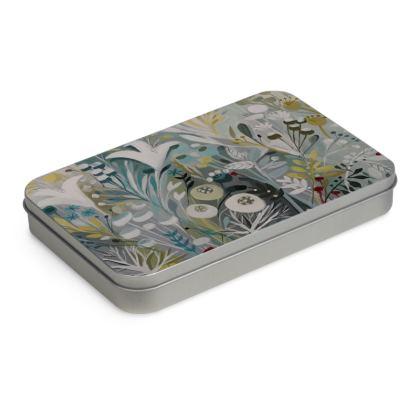 Tin Box in Natalie Rymer Winter Greys design