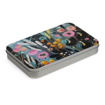 Tin Box in Natalie Rymer Wild Flowers design