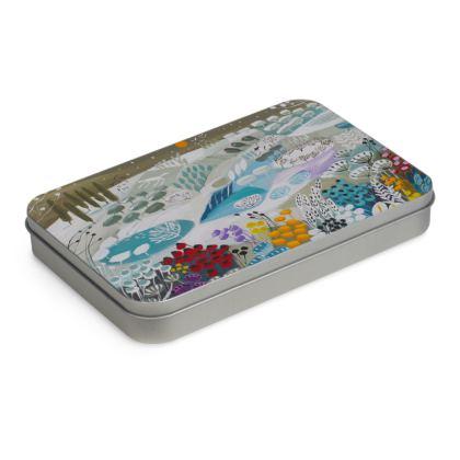 Tin Box in Natalie Rymer Snowy Hill design