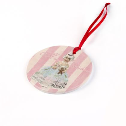 Pink Fairy Christmas Ornaments