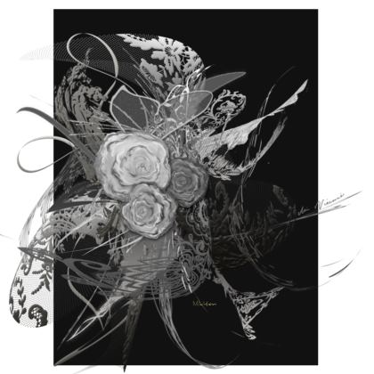 Suitcase (hand luggage) - Resväska  (handbagage) - 50 shades of lace grey black