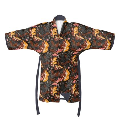 The Secret Garden  - Warm hues Kimono
