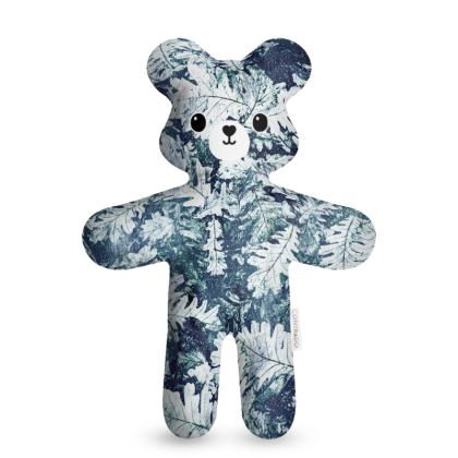 Forest Floor, Indigo - Teddy Bear