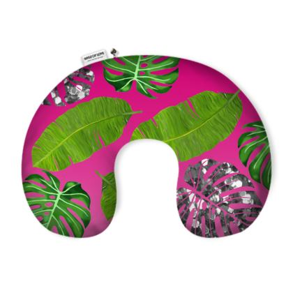 Glitter Jungle Neck Pillow
