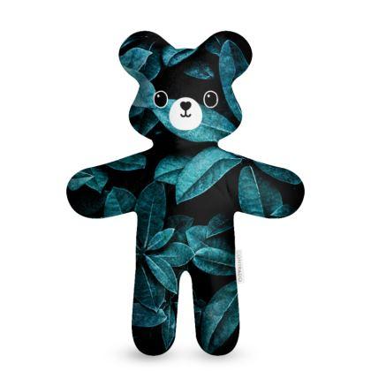 Teal Leaves - Teddy Bear