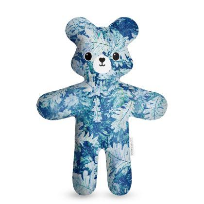 Forest Floor, Aquamarine - Teddy Bear