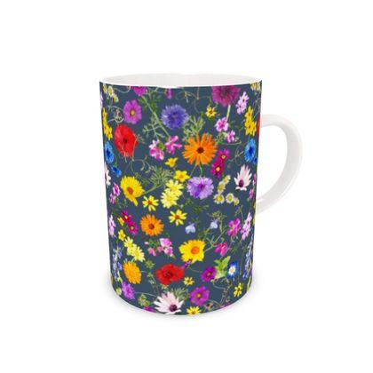 Bone China Mug - Tangle of Wild Flowers
