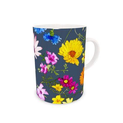 - Bone China Mug - Tangle of Wild Flowers