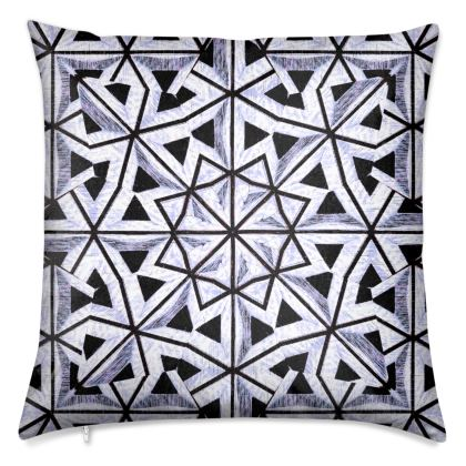 """Bahia Indigo"" Luxury Velvet Cushion"