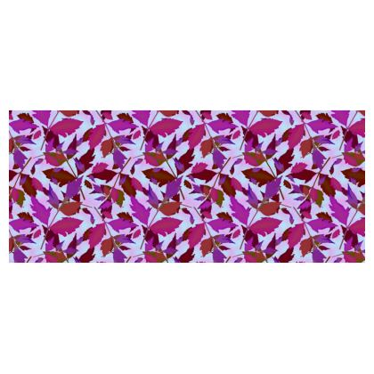 Cup and Saucer  Cathedral Leaves :  Anemone, Diamond Leave : Treetops, Lagoon, Mauve Fantasy
