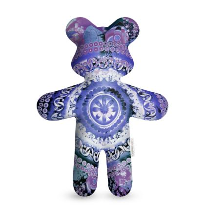Hyacinth Mandala Teddy Bear