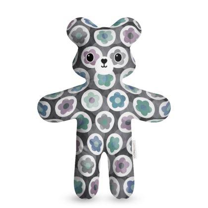 Mod Floral, Seafoam - Teddy Bear