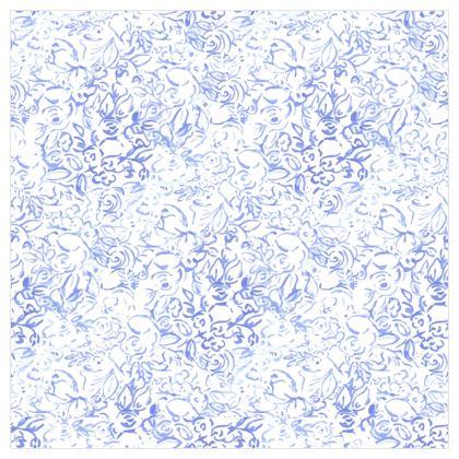 Papier peint fleurs bleues