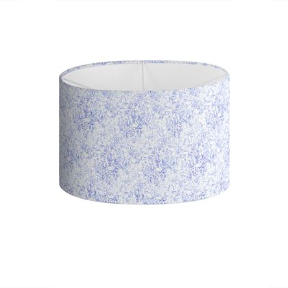 Abat-jour fleurs bleues