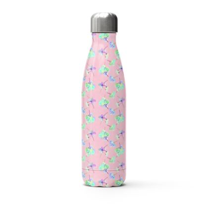 Stainless Steel Thermal Bottle  My Sweet Pea  Soft Pink