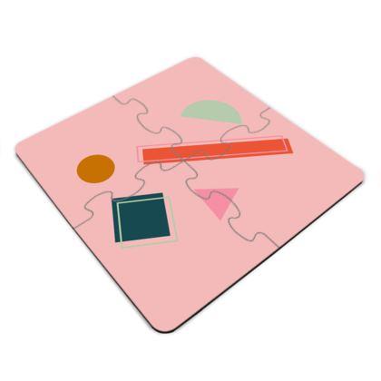 Jigsaw Coasters- Geometric Pieces