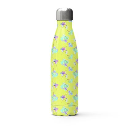 Stainless Steel Thermal Bottle  My Sweet Pea  In Yellow