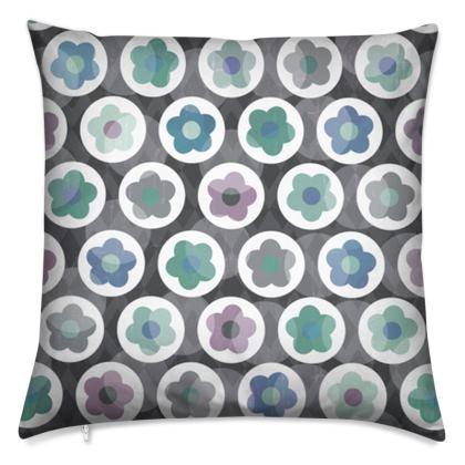 Mod Floral, Seafoam - Cushions
