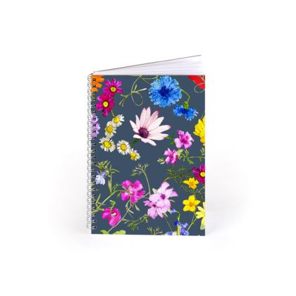 A5 Spiral Notebook - Tangle of Wild Flowers