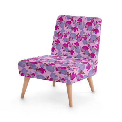 Occasional Chair  Field Poppies  Mauve