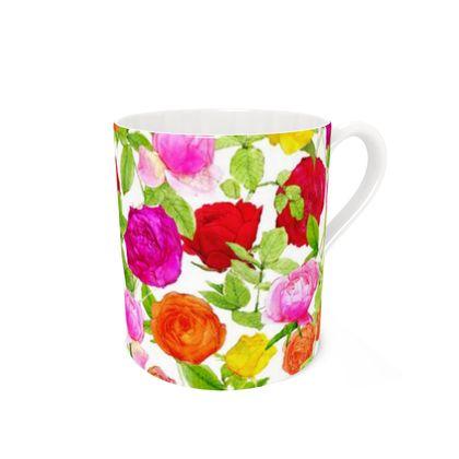 Bone China Mug - Riot of Roses