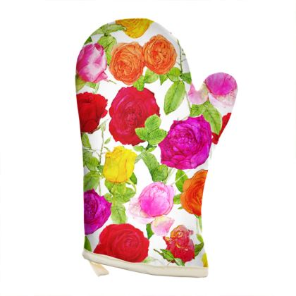 Left Hand Oven Glove - Riot of Roses