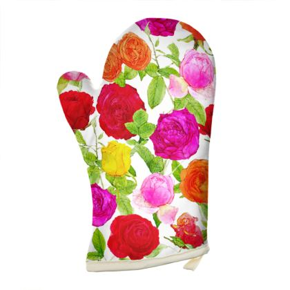 Right Hand Oven Glove - Riot of Roses